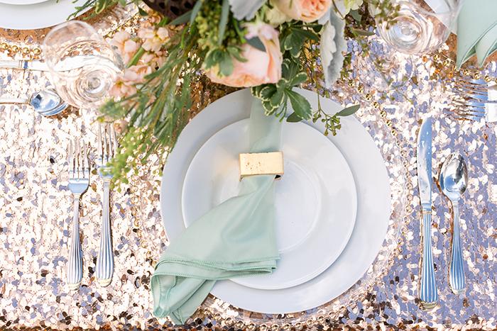 Tischdeko Hochzeit gold (9)