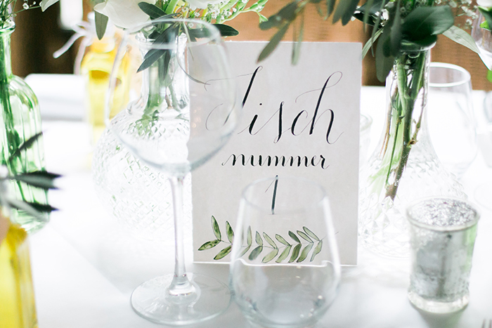 Tischnummer Hochzeit