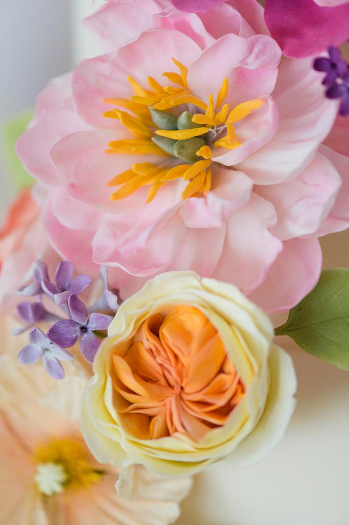 Zuckerblumen Hochzeitstorte