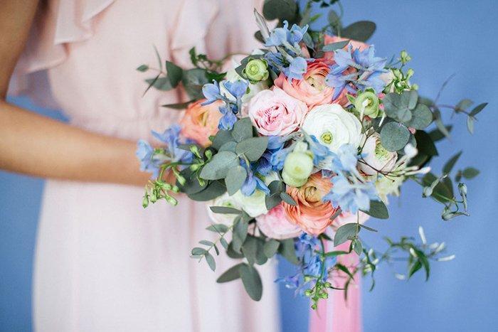 rosequartz and serenity flowers