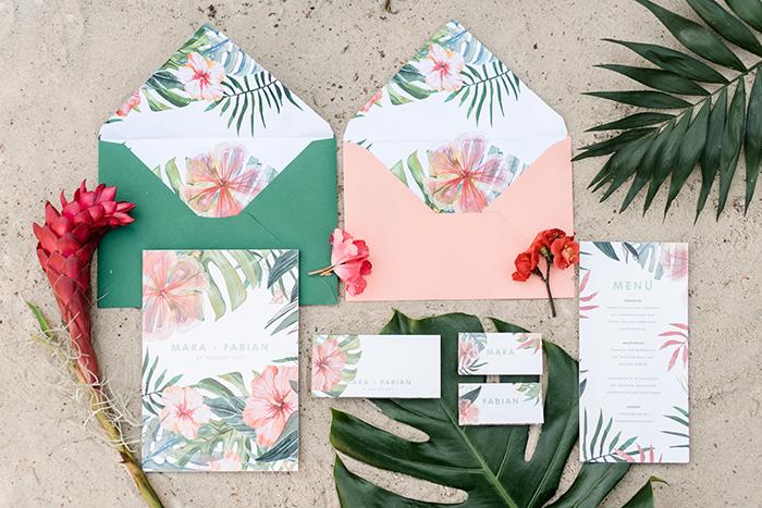Einladungen Hawaii Stil (1)