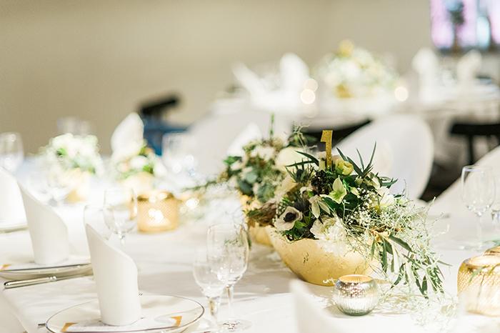 Goldene Tischdeko Hochzeit
