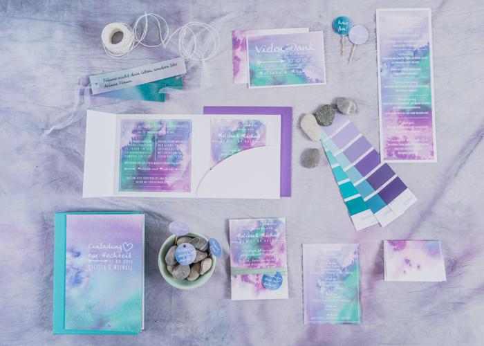 Hochzeitseinladungen lila (2)