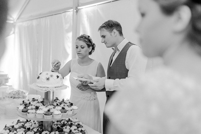 Hochzeitstorte mit Cupcakes