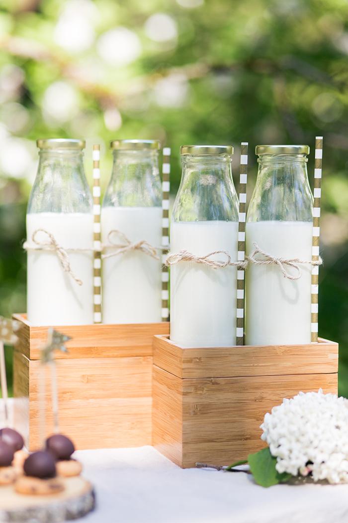 Kleine Milchflaschen