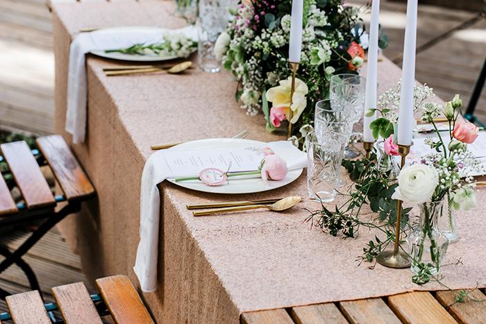 Paillettentischdecke Hochzeit