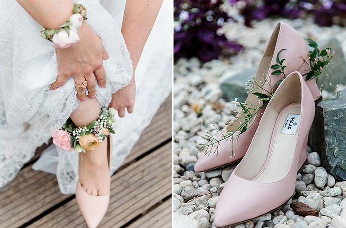 Rosa Schuhe Hochzeit