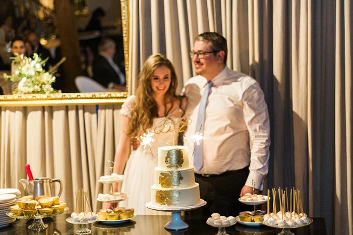 goldene Hochzeitstorte (1)