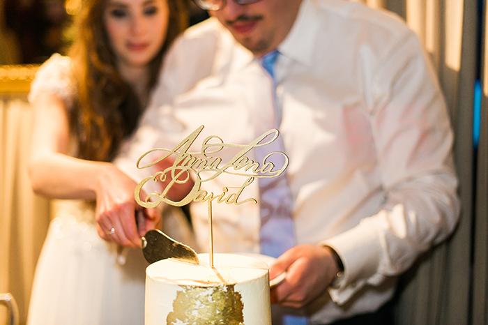 goldene Hochzeitstorte (2)