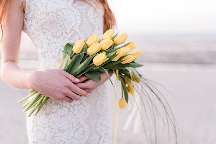 Brautstrauss gelbe Tulpen