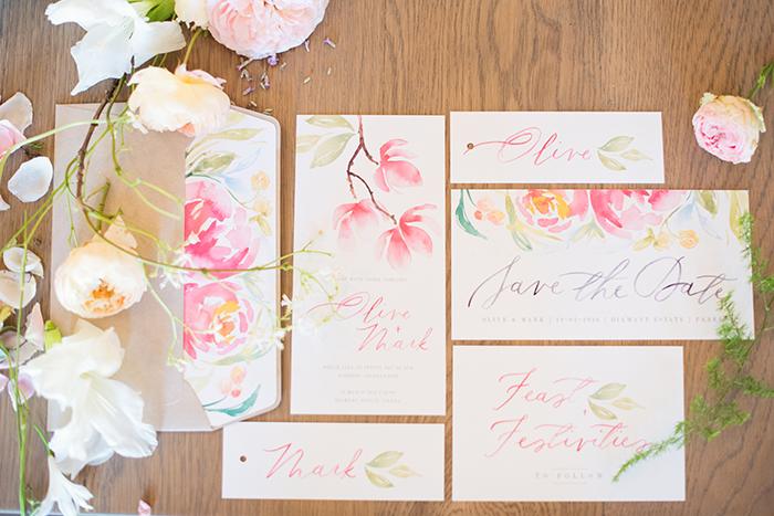 Hochzeitseinladungen mit Blumen (2)
