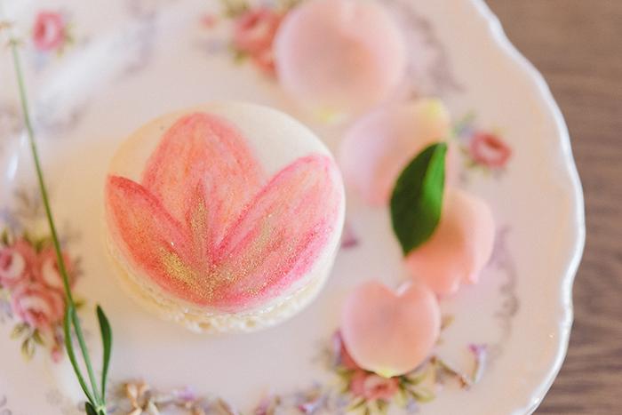 Macarons Blumenmuster