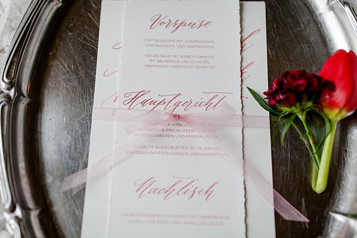 Menuekarte Hochzeit