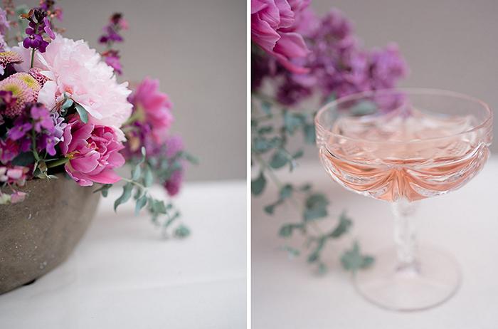 Rosa Getraenk Hochzeit