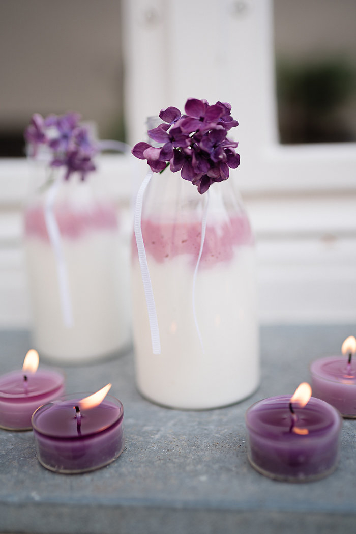 lila Teelichter