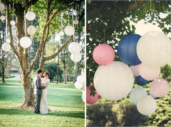 Baum dekorieren Hochzeit (7)