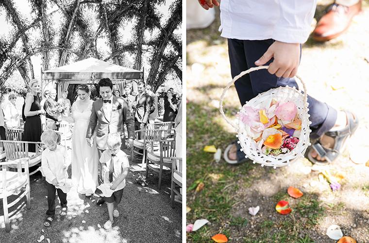Blumenjungen Hochzeit