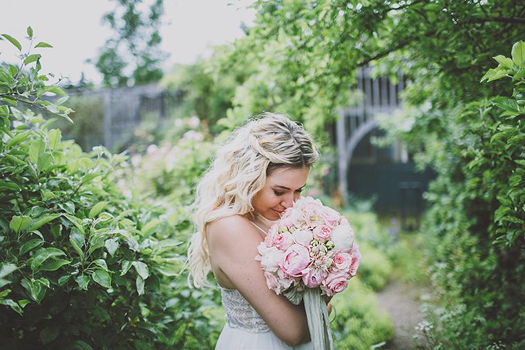 Braut rosa Brautstrauss
