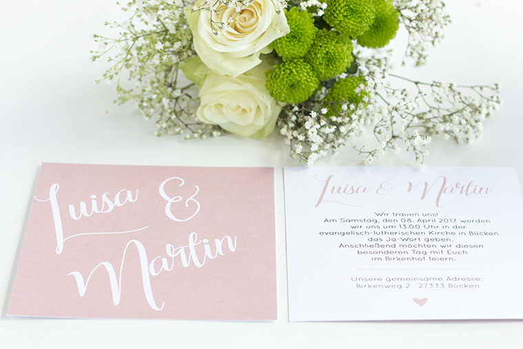 Hochzeitseinladung Rosa (1)