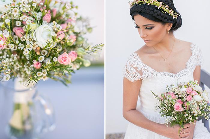 bridal bouquet waxflower