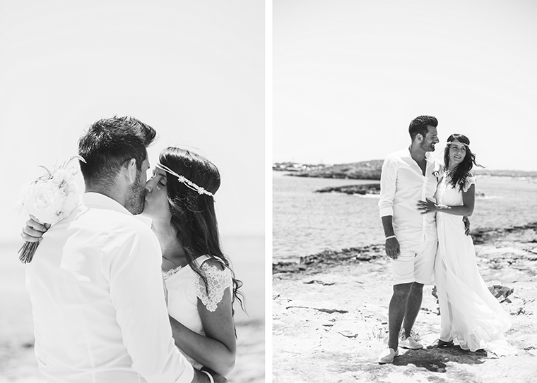 bride and groom formentera