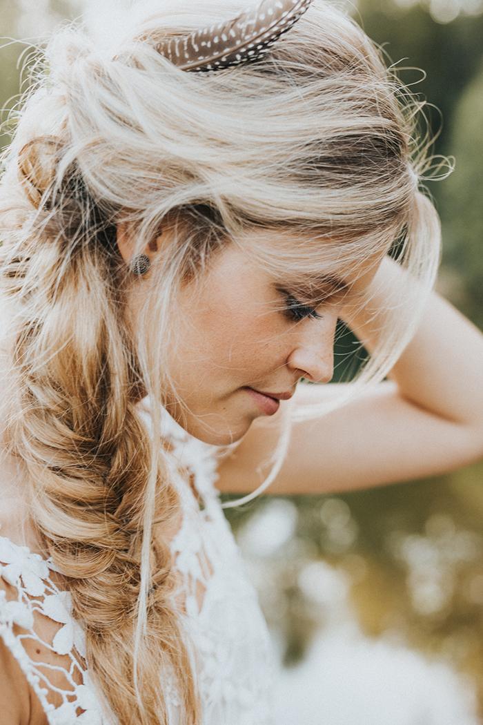 geflochtene Haare Braut