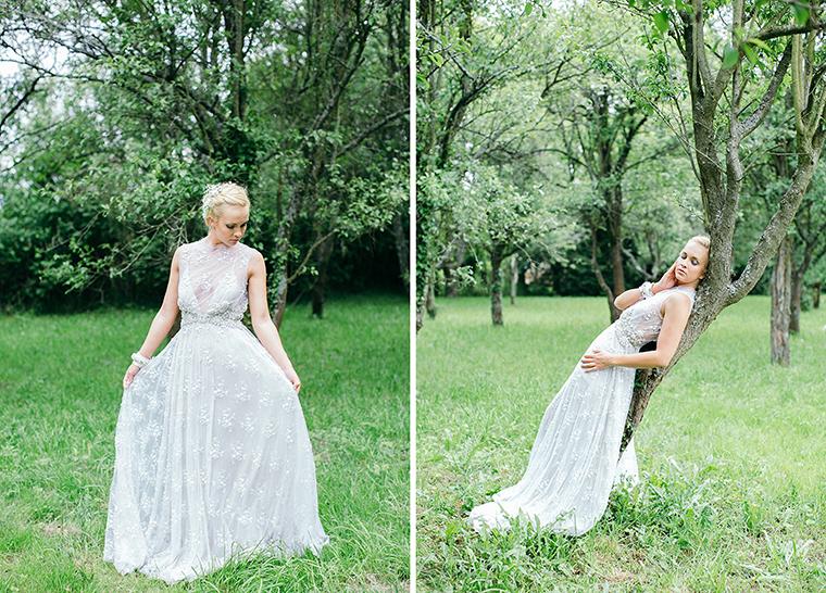 glitzerndes Brautkleid