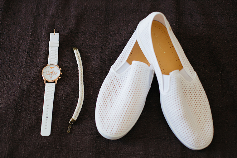 white groom shoes