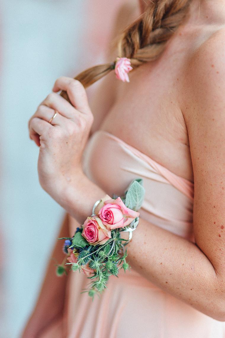 Armband aus Blumen