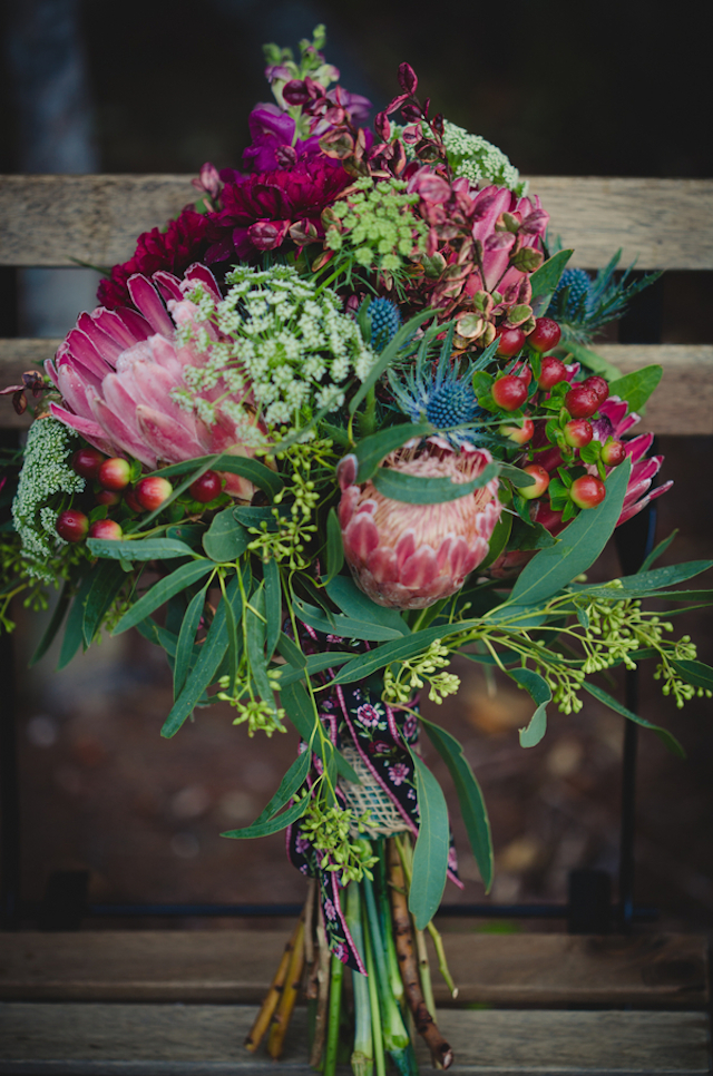 Brautstrauss mit Protea