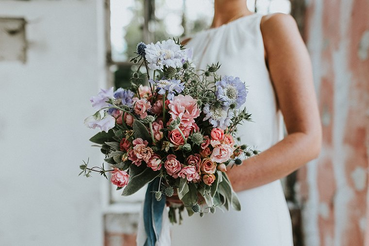 Brautstrauss rosa hellblau