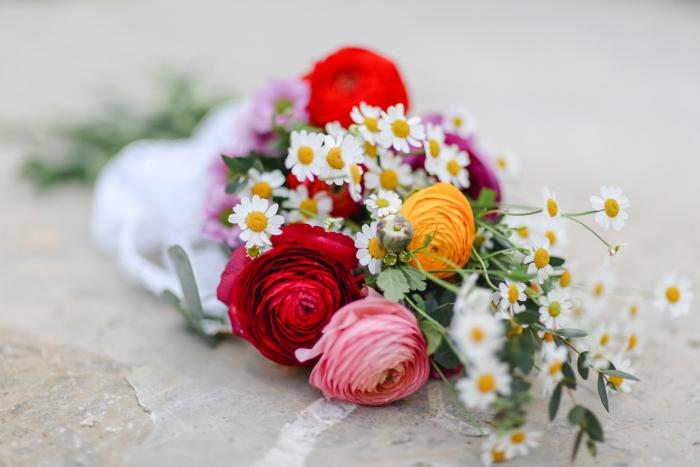 Brautstrauss rot und rosa