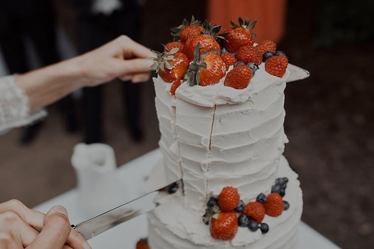 Erdbeertorte Hochzeit