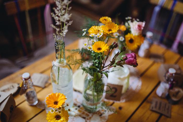 Gelbe Blumen Hochzeit