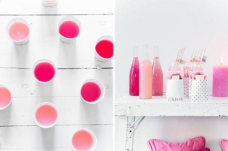 hochzeitsdeko in pink und rosa
