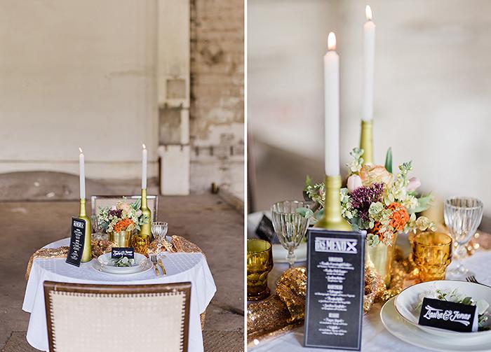 Tischdeko Hochzeit Pailletten