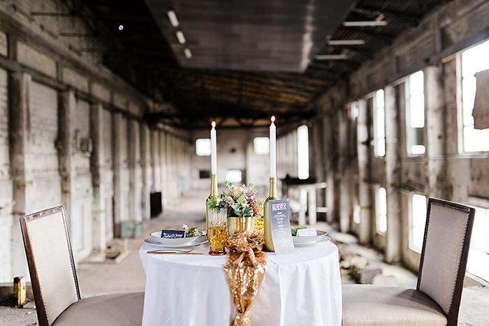 Tischdeko Hochzeit gold (1)