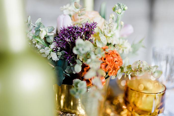 Tischdeko Hochzeit gold (2)