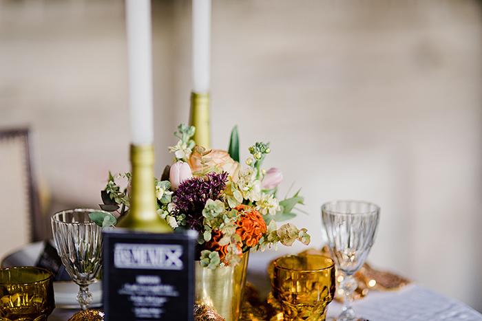 Tischdeko Hochzeit gold (5)