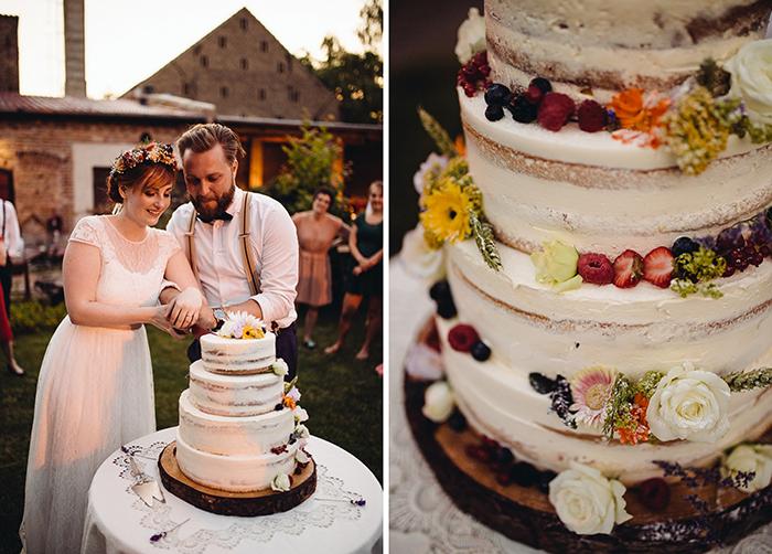 Torte anschneiden Hochzeit