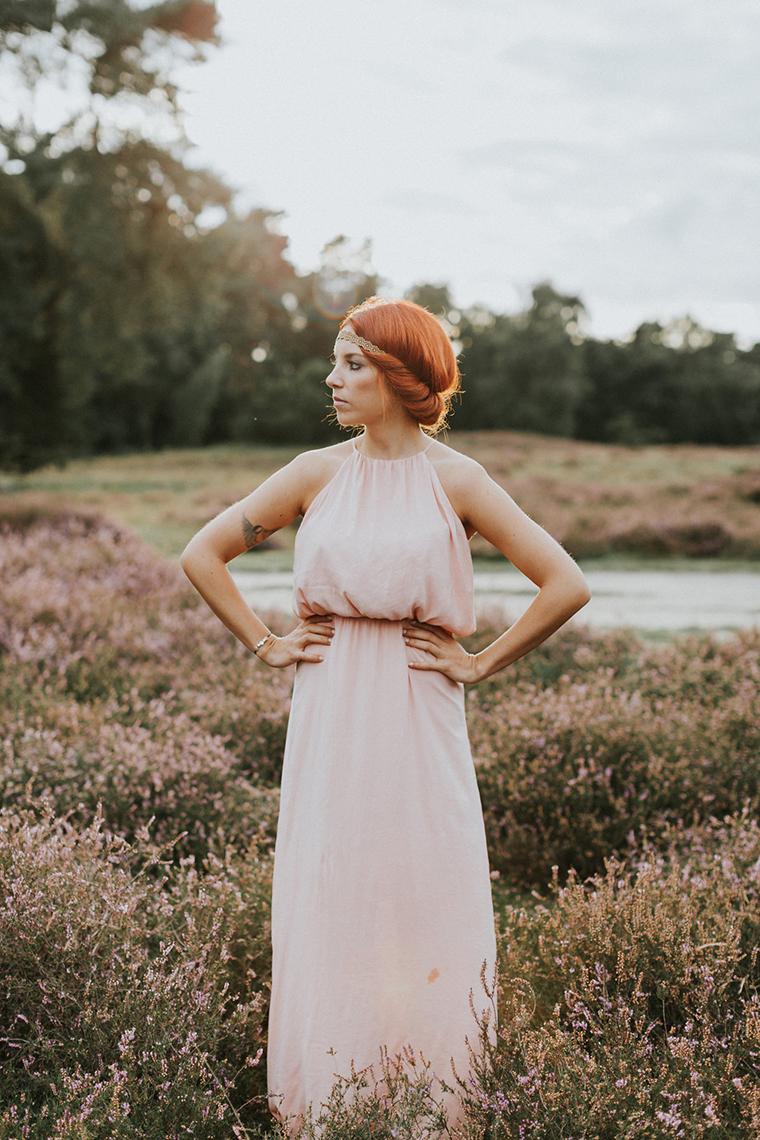 brautjungfern kleid rosa