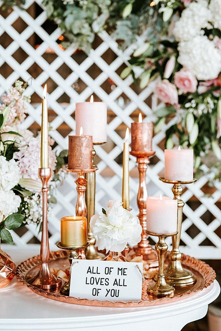 goldene Kerzen Deko