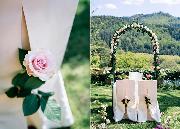 Blumenbogen Hochzeit
