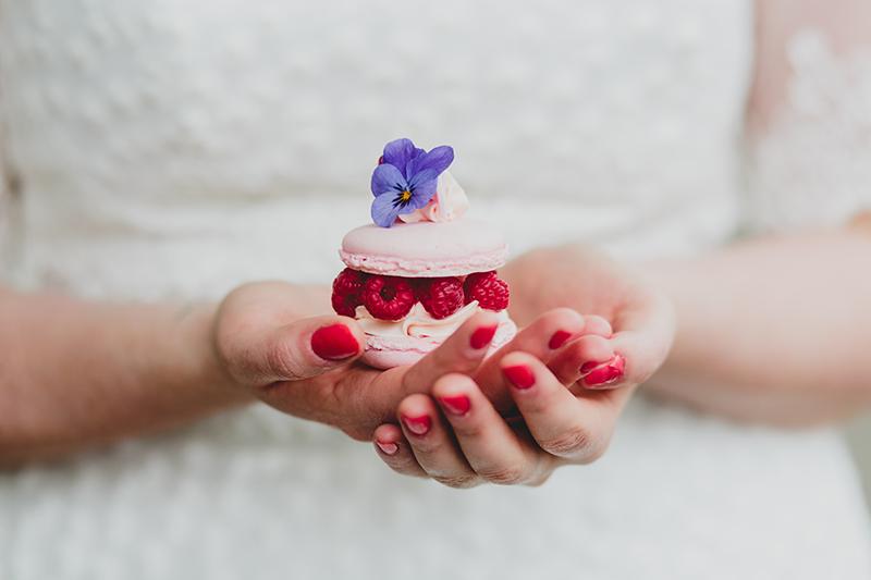 himbeer-macaron