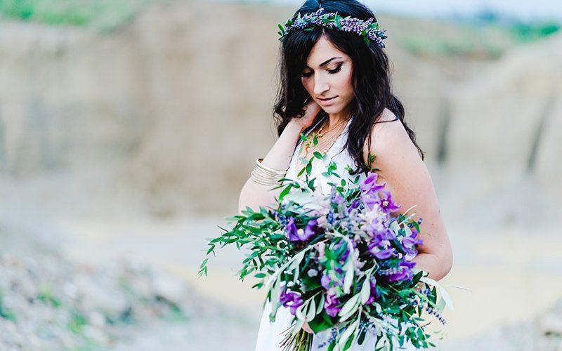 Hippie Brautkleid