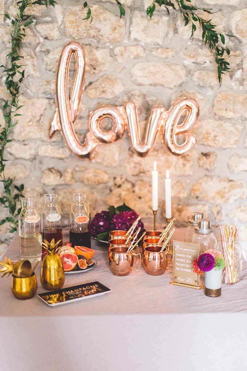 Hochzeitsdeko in gold for Hochzeitsdeko gold