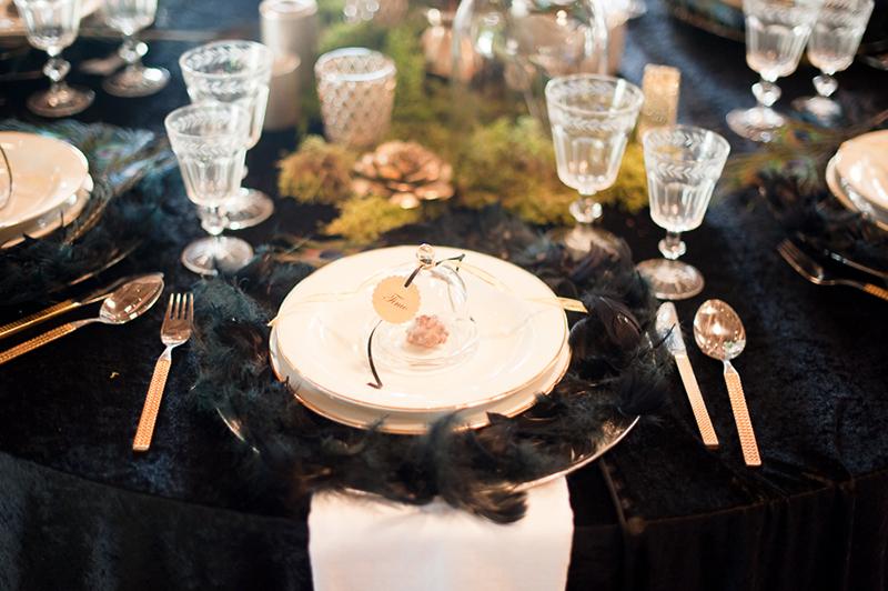 Hochzeit Schwarz Gold