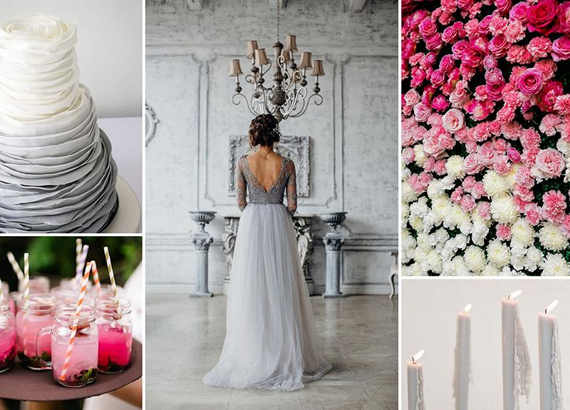 Hochzeit In Grau Und Pink