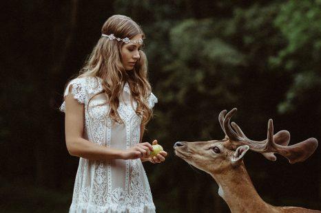 Hippie Hochzeitskleid Bunt