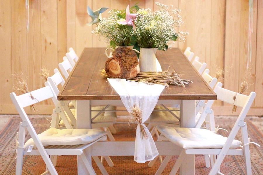 Vintageverleih tische und st hle for Hochzeitsdeko ausleihen